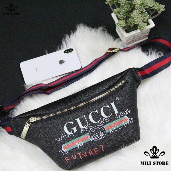 Túi Gucci đeo bụng trước ngực đeo hông hàng f1 chuẩn form loại 1