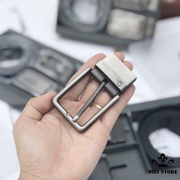 Dây nịt thắt lưng ck Calvin Klein 2 đầu khóa FullBox giá rẻ tại tphcm