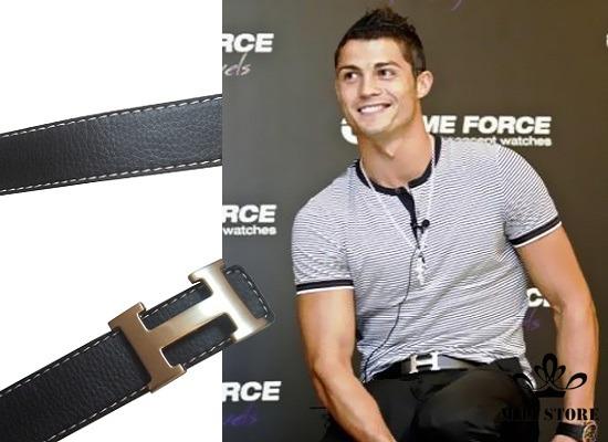 Dây nịt thắt lưng Hermes Fullbox Cris Ronaldo đeo