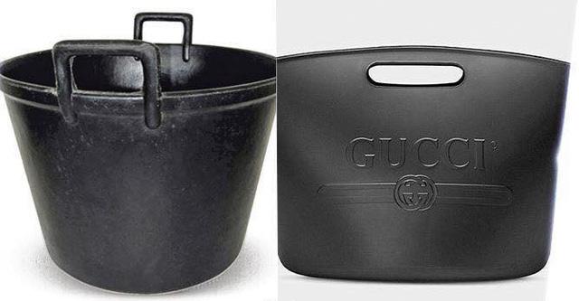 Chiếc túi xách Gucci mới ra mắt với giá gần 700 bảng Anh (khoảng gần 22 triệu đồng) có hình dạng không khác chiếc xô nhựa đang bị nhiều tín đồ thời trang ném đá. (Nguồn: SGCT)