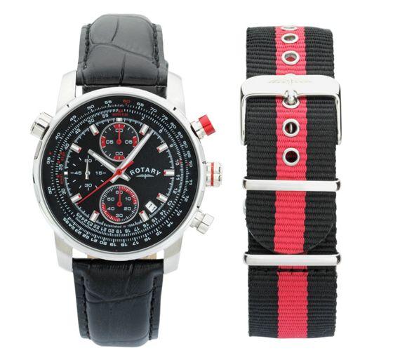 Đồng hồ nam Rotary Interchangeable Leather Strap - có giá gốc £139.99, giờ giảm còn £69.99 (tiết kiệm 50%) khi mua tại Argos