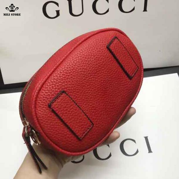 Phía sau túi đeo bụng hiệu Gucci đeo trước hông cho phái nữ hót 2018