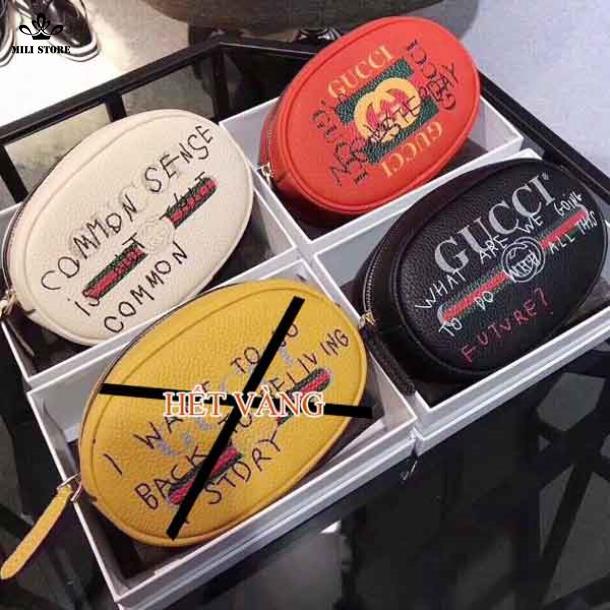 Túi đeo bụng Gucci đeo hông màu trắng đỏ đen