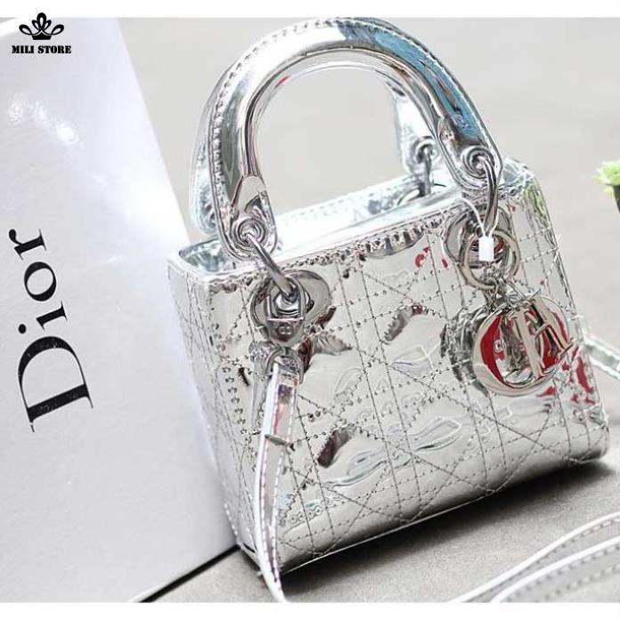 Dior da bóng màu bạc, hàng Super Fullbox có hộp sáng bóng