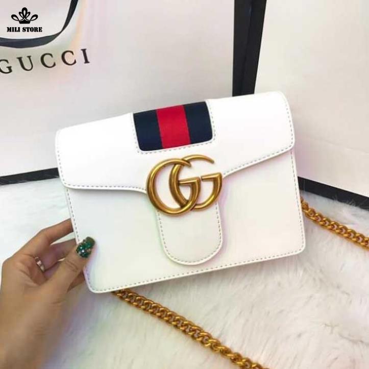 Gucci hộp màu Trắng viền túi hộp màu Xanh Đỏ đẹp
