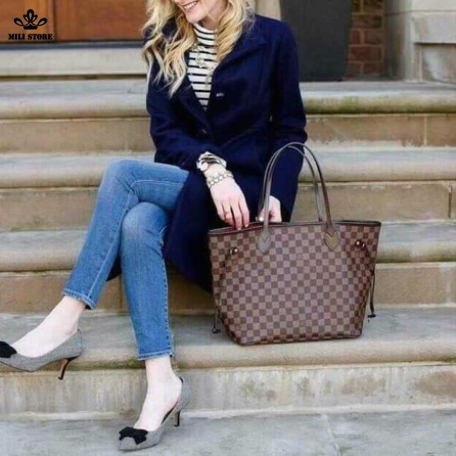 Túi xách tay Louis Vuitton LV màu nâu zise lớn