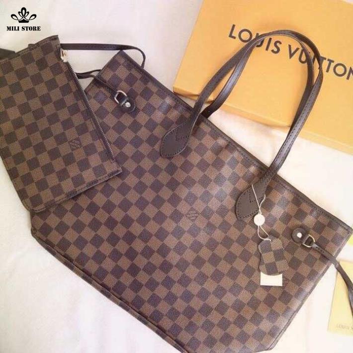 Túi Louis Vuitton LV ô vuông size to du hý  mau sắm Shopping