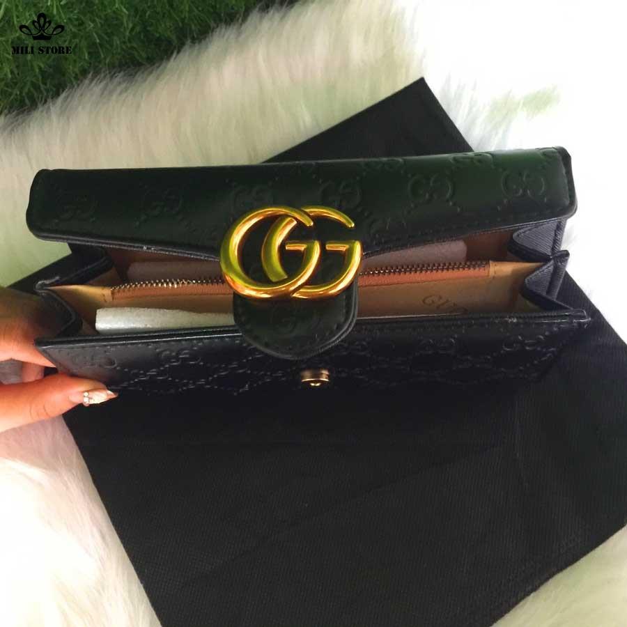bên trong ví nữ Gucci di động