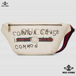 Túi Gucci common sense is not that common màu trắng đeo chéo trước ngực đeo hông eo