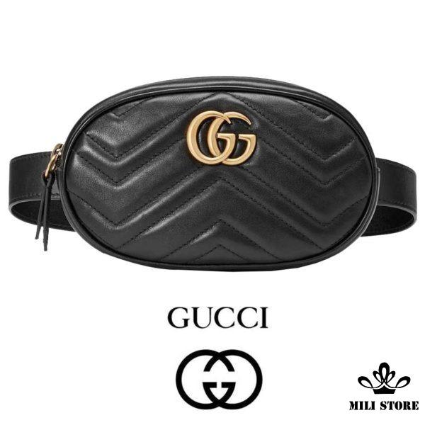 Túi Gucci đeo trước bụng, túi gucci đeo chéo trước ngực, đeo eo, hông