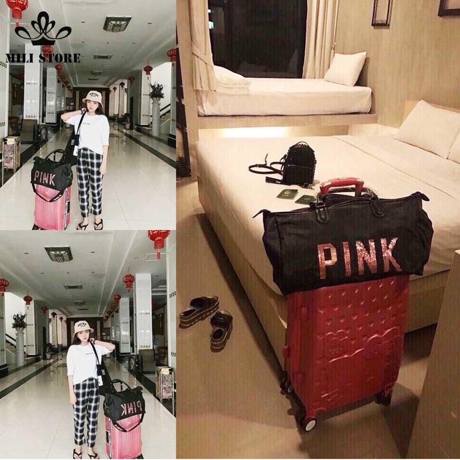 Túi pink du lịch tập gym, túi xách thể thao
