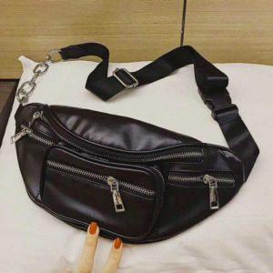Túi xách đeo chéo trước ngực hàng Quảng Châu loại 1, da mềm f1