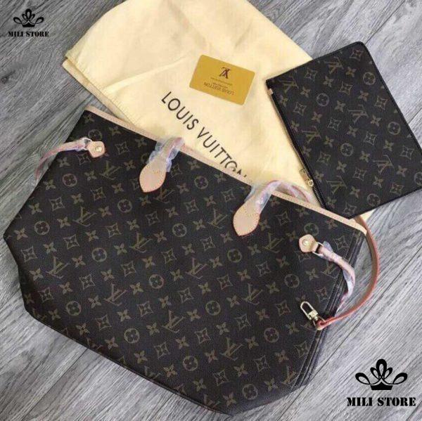 Túi xách tay nữ LV Louis Vuitton Neverfull MM Monogram size lớn cực rẻ đẹp