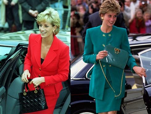 Hai chiếc túi hàng hiệu được đặt theo tên công nương Diana