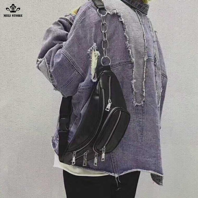 Túi đeo chéo quang châu cho giới tính  đeo sau lưng