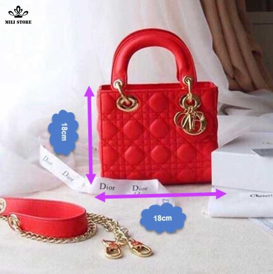 Dior 4 ô màu đỏ đẹp lấp lánh  full box có hộp kèm túi xách