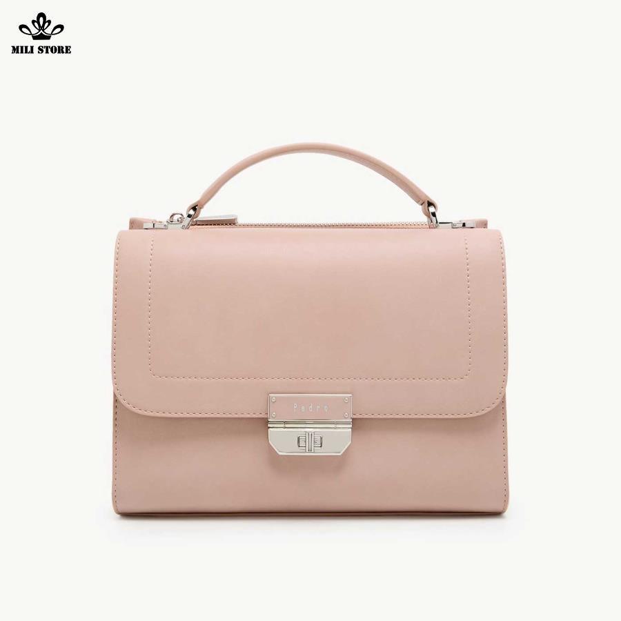 Túi xách đẹp Pedro màu hồng dây da công sở