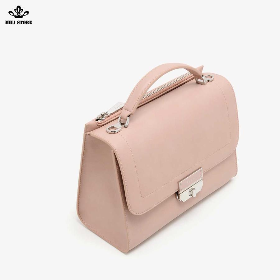 Túi Pedro size to công sở màu hồng cánh sen đẹp