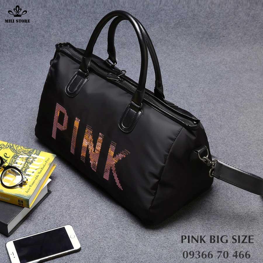 pink túi xách tay big size lớn túi tập gym đi du hý
