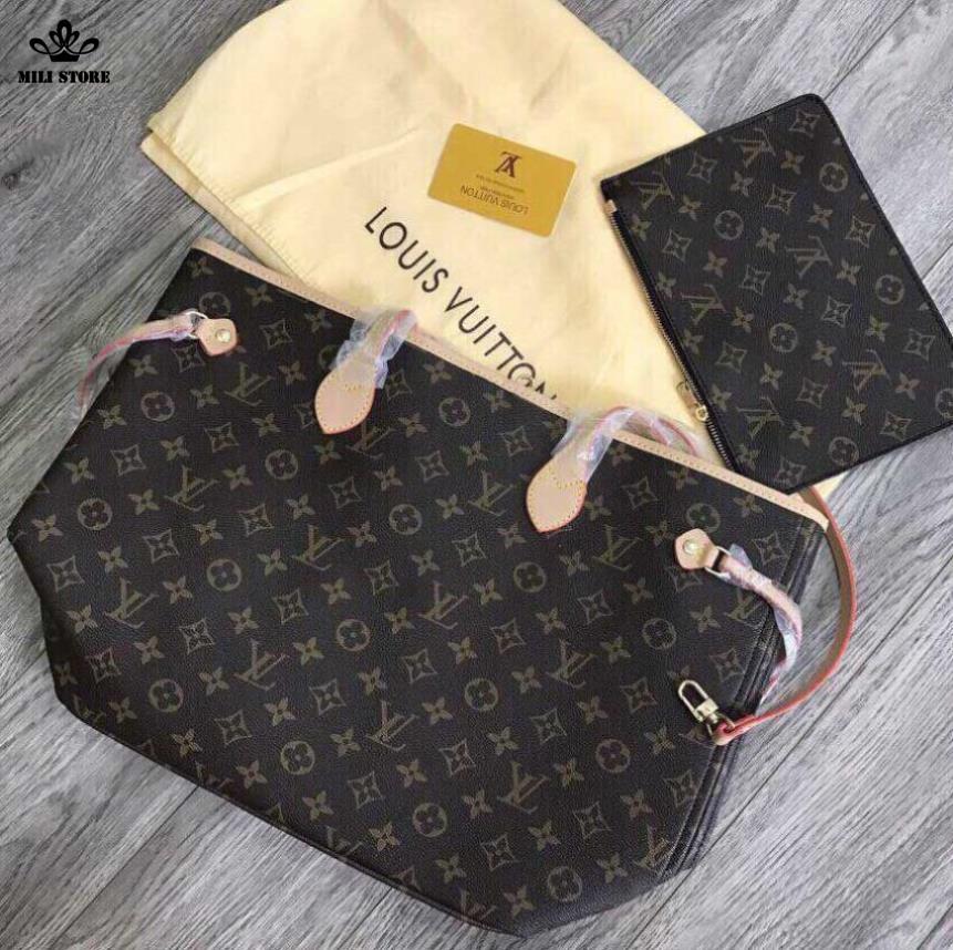túi xách tay nữ Louis Vuitton Neverfull MM Monogaram size lớn cực rẻ đẹp