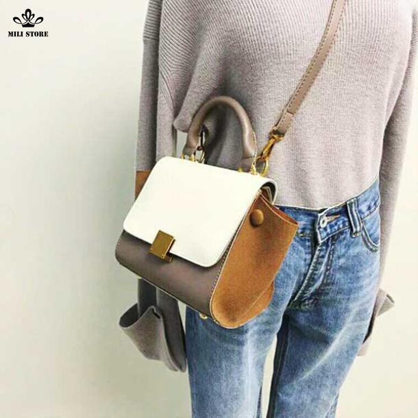 Túi Celine màu trắng nâu đẹp đẽ