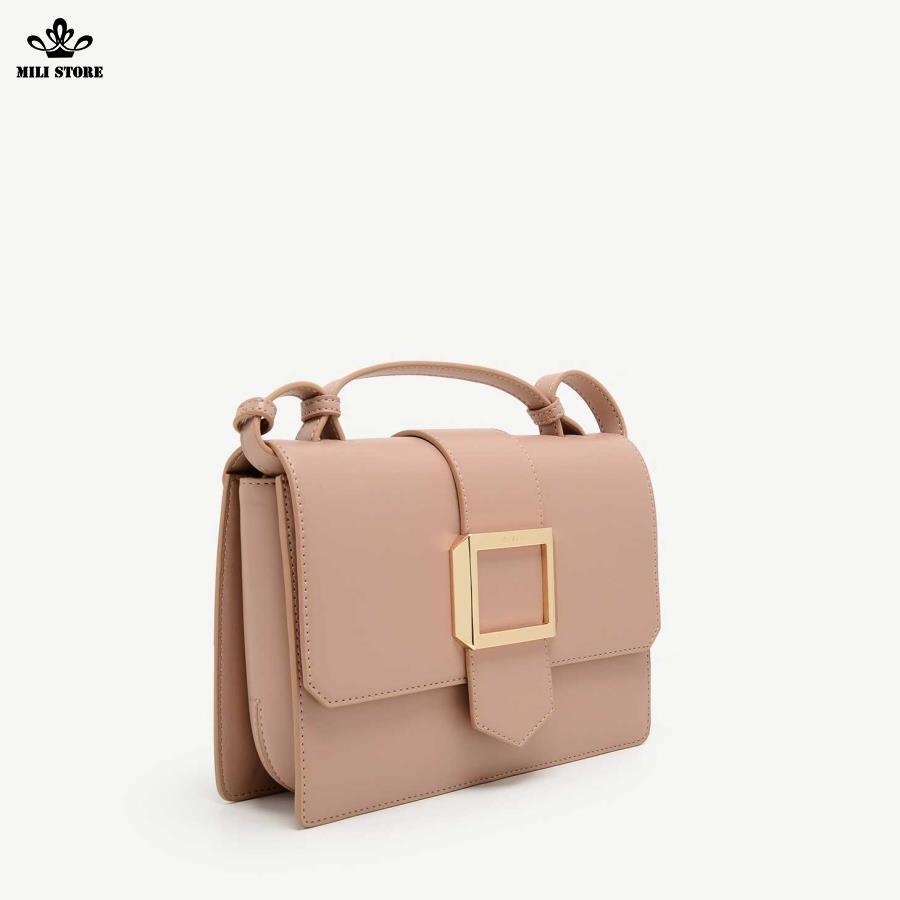 Túi Pedro màu hồng cánh sen công sở size 25 đẹp
