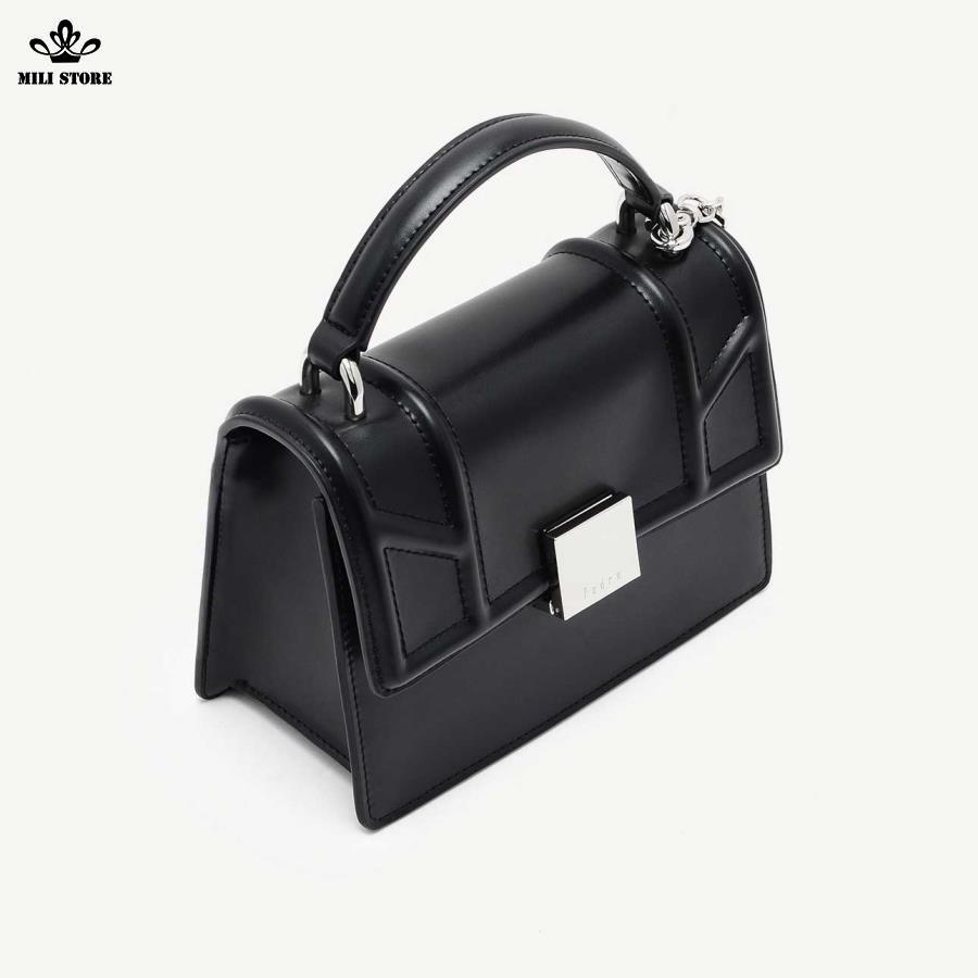 Túi Pedro màu đen hộp vuông dây pha xích