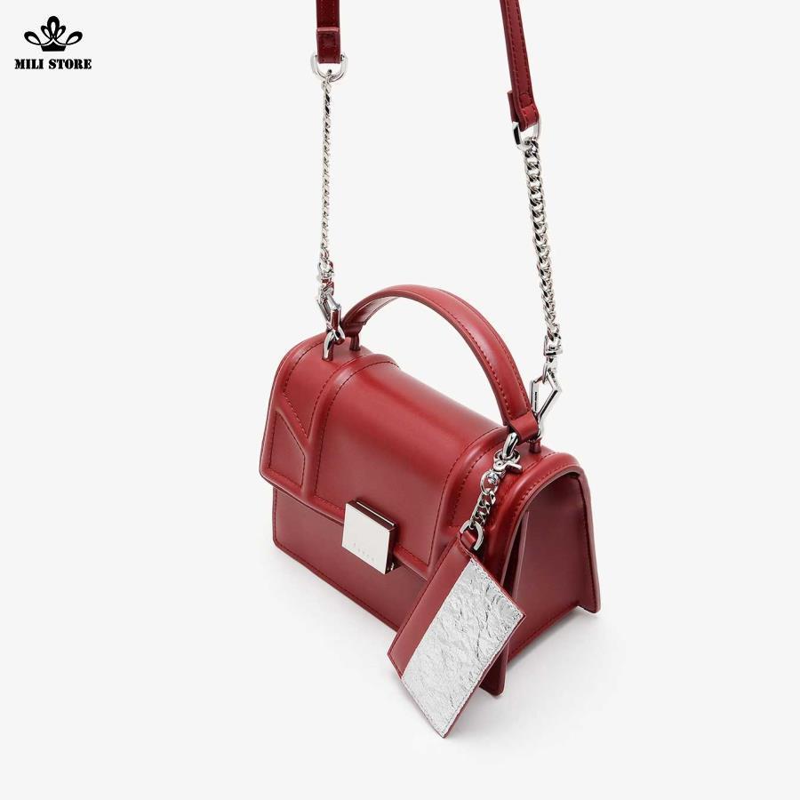Túi xách Pedro màu đỏ có Tag treo túi dây pha xích