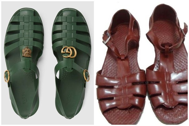 Đôi dép có giá hơn 11 triệu đồng của Gucci và dép rọ của Việt Nam không khác nhau là mấy.