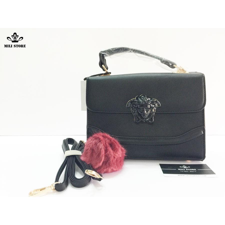 túi versace đen sắc sảo  sang đẹp quý phái