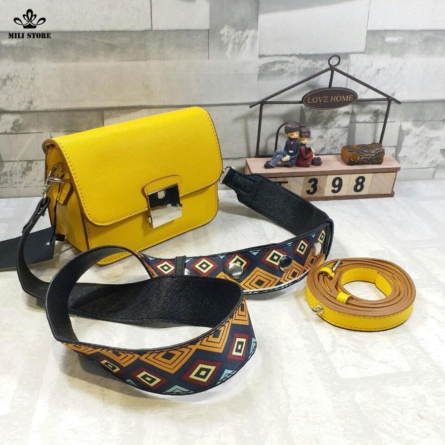 túi dây đeo lớn màu vàng zara đẹp