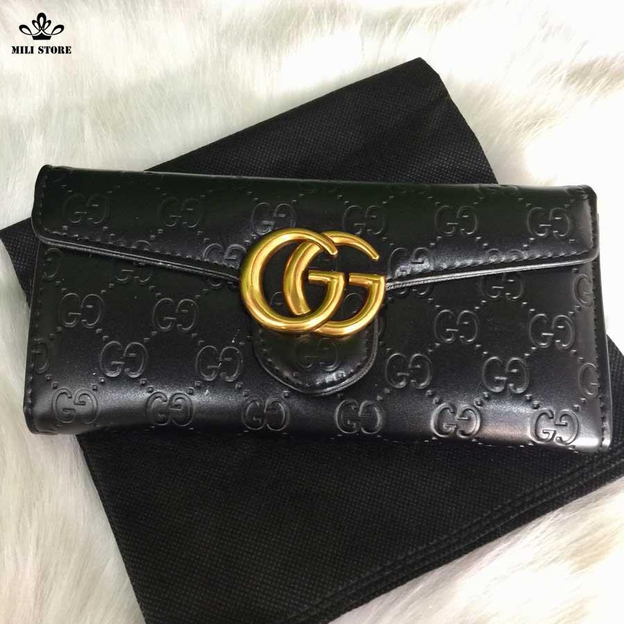ví Gucci màu đen đẹp lonh lanh
